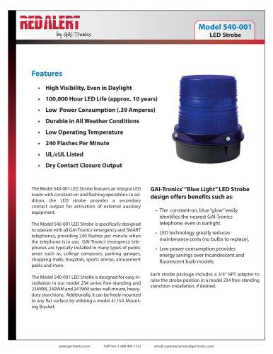 LED Strobe - GAI-Tronics a division of Hubbell Ltd - PDF Catalogs