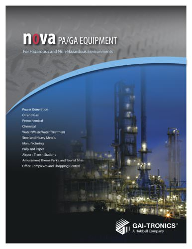 NOVA  PA/GA Equipment For Hazardous and Non-Hazardous Environments
