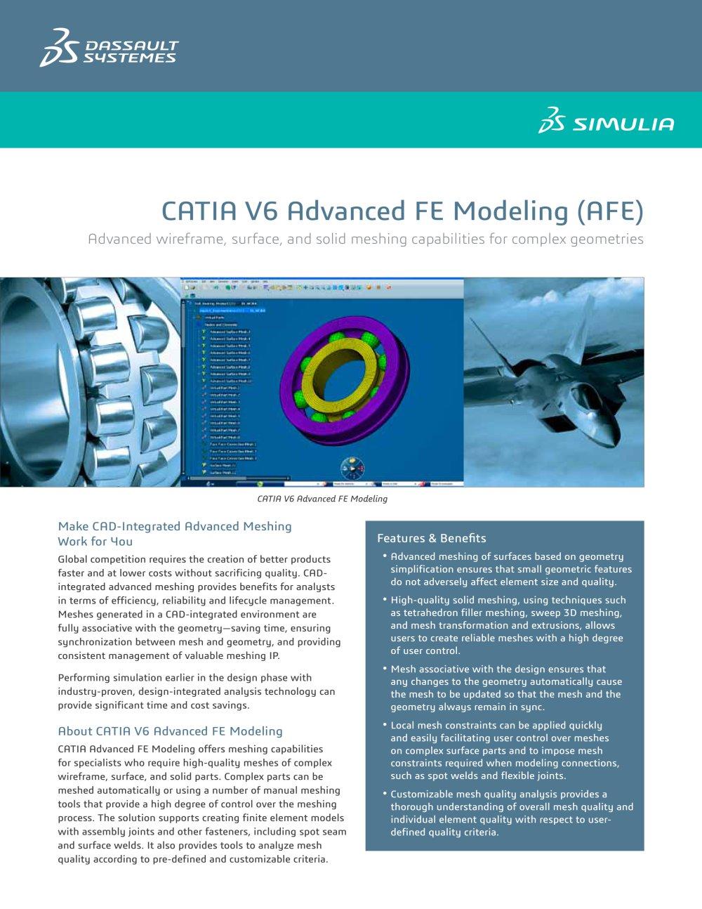 CATIA Advanced FE Modeling - SIMULIA - PDF Catalogue | Technical ...
