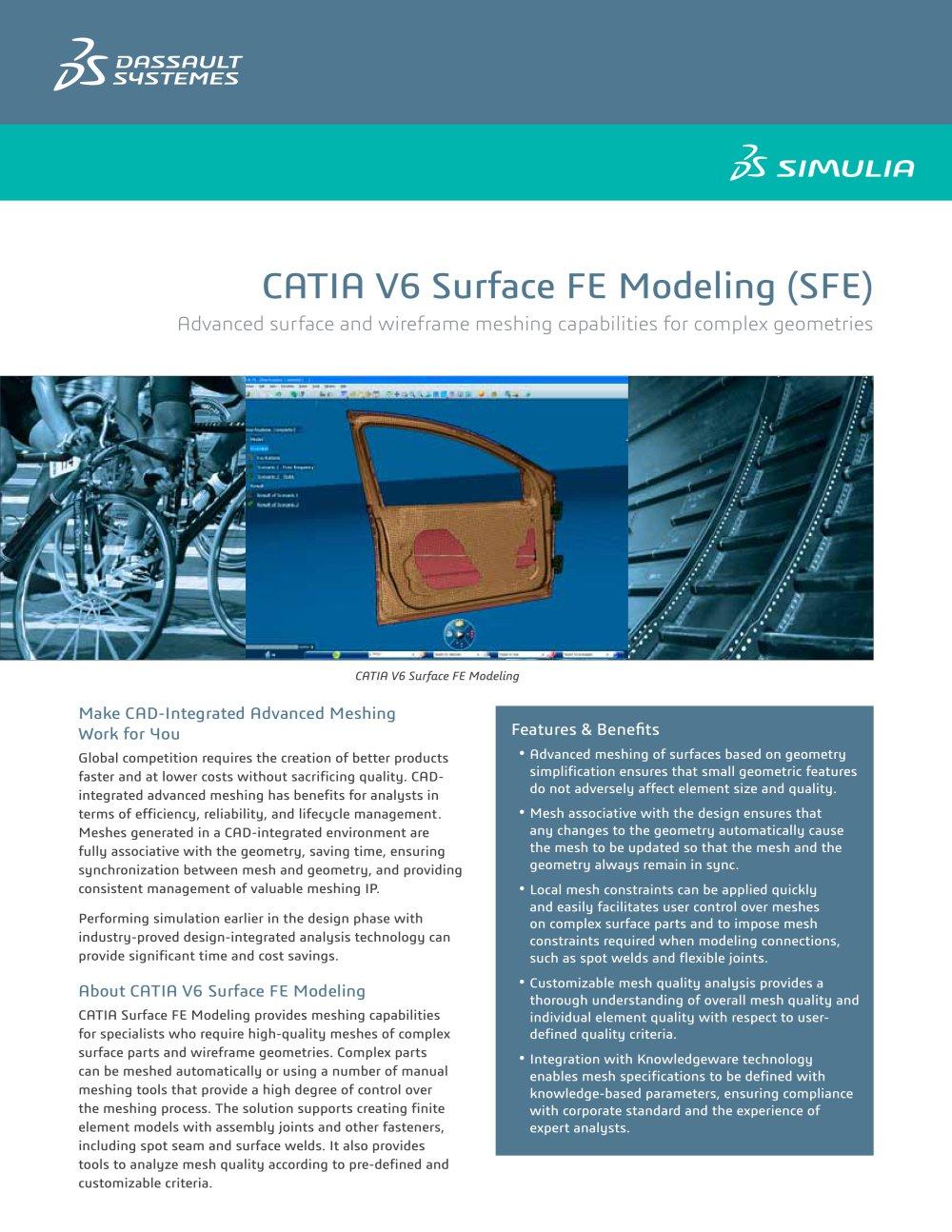 CATIA Surface FE Modeling - SIMULIA - PDF Catalogue | Technical ...