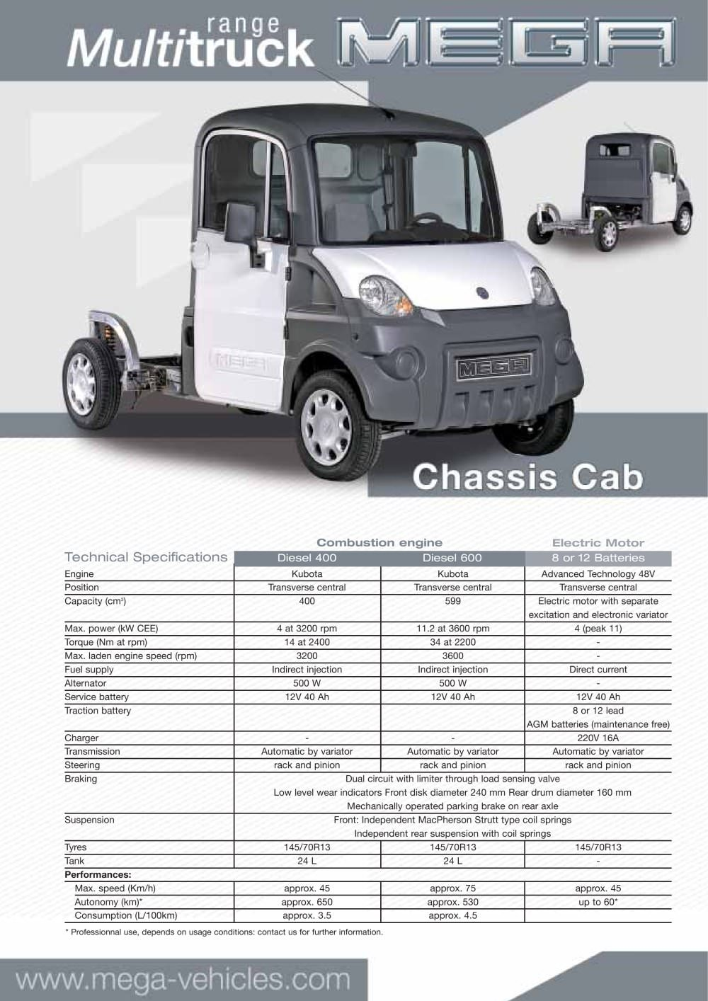 Chassis cab - AIXAM MEGA - PDF Catalogs | Technical Documentation