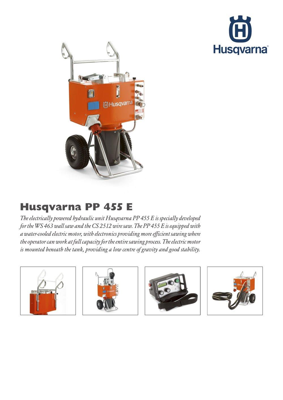 Husqvarna PP 455 E - Husqvarna Construction - PDF Catalogue ...