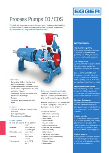 Egger Process Pumps EO/EOS - Product Sheet