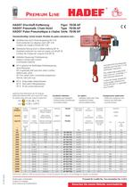 70/06 AP  Pneumatic Chain Hoist