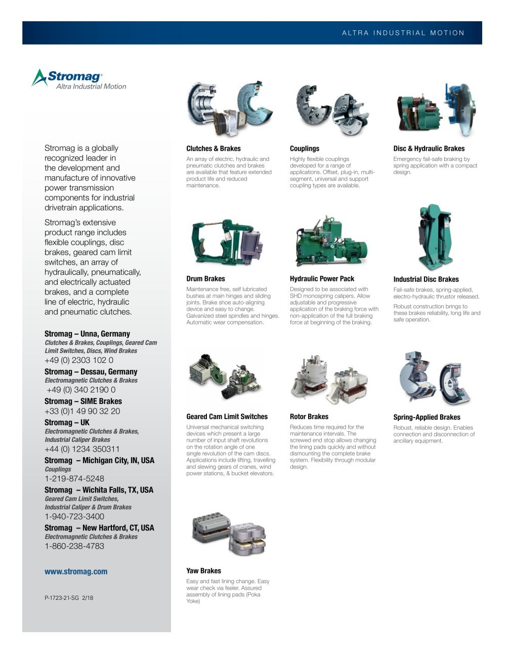 Brakes Type 600 Stromag Pdf Catalogue Technical Documentation Operation Steel Wire Hinge Lever 110 Micro Switch 1 2 Pages