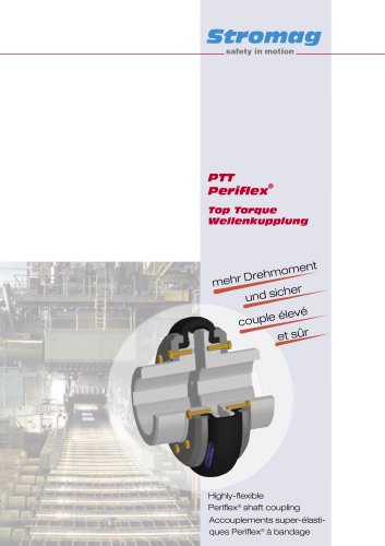Highly-flexible Periflex® Top Torque Shaft Couplings