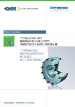 Hydraulically and Pneumatically released Multi-Disc Brakes