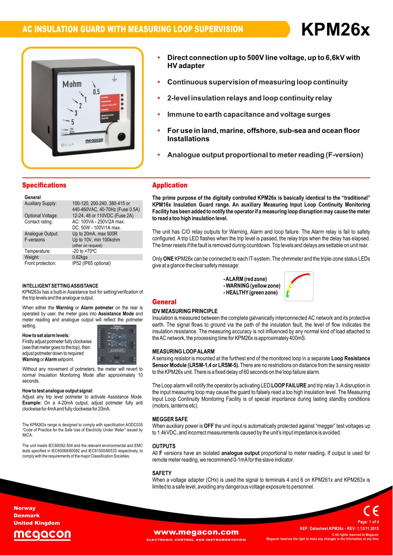 Kpm26x Meagacon As Pdf Catalogs Technical Documentation Brochure Dc Relay Working Principle 1 4 Pages