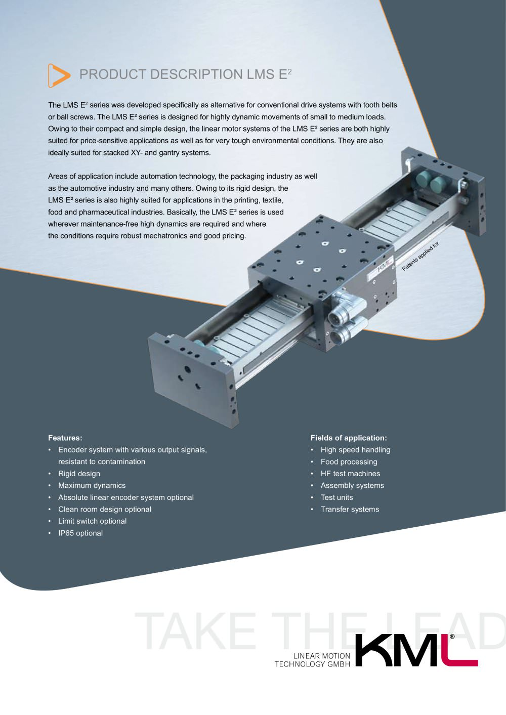 standard linear motor systems series lms e kml linear motion