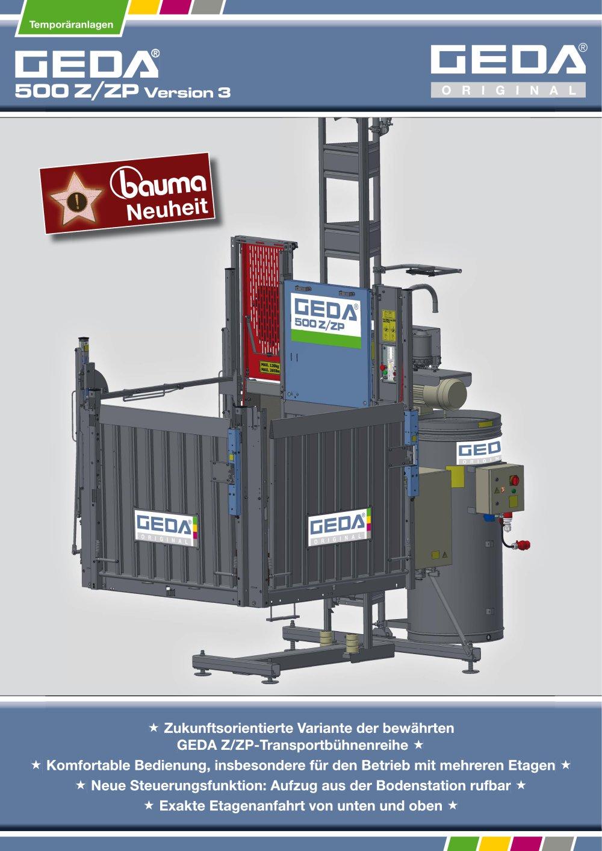 500 Z/ZP Version 3 - GEDA-Dechentreiter GmbH & Co  KG - PDF