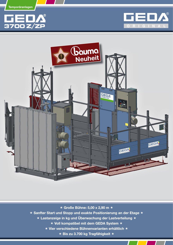 bauma-Prospekt GEDA 3700 Z/ZP - GEDA-Dechentreiter GmbH & Co