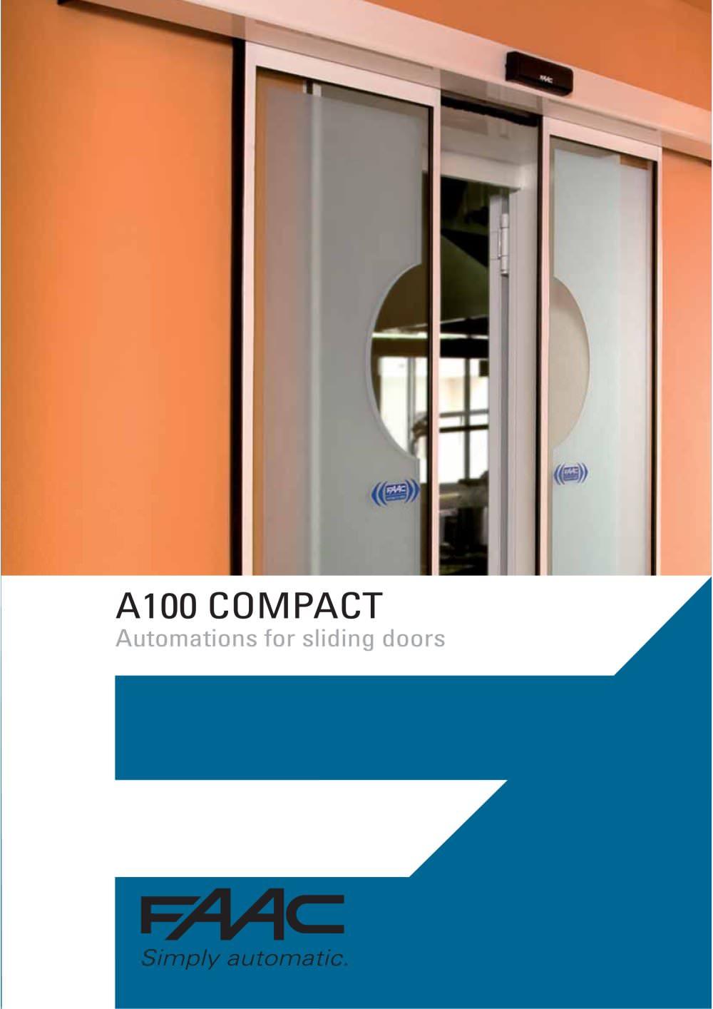 A100 Automatic Doors Faac Spa Pdf Catalogue Technical