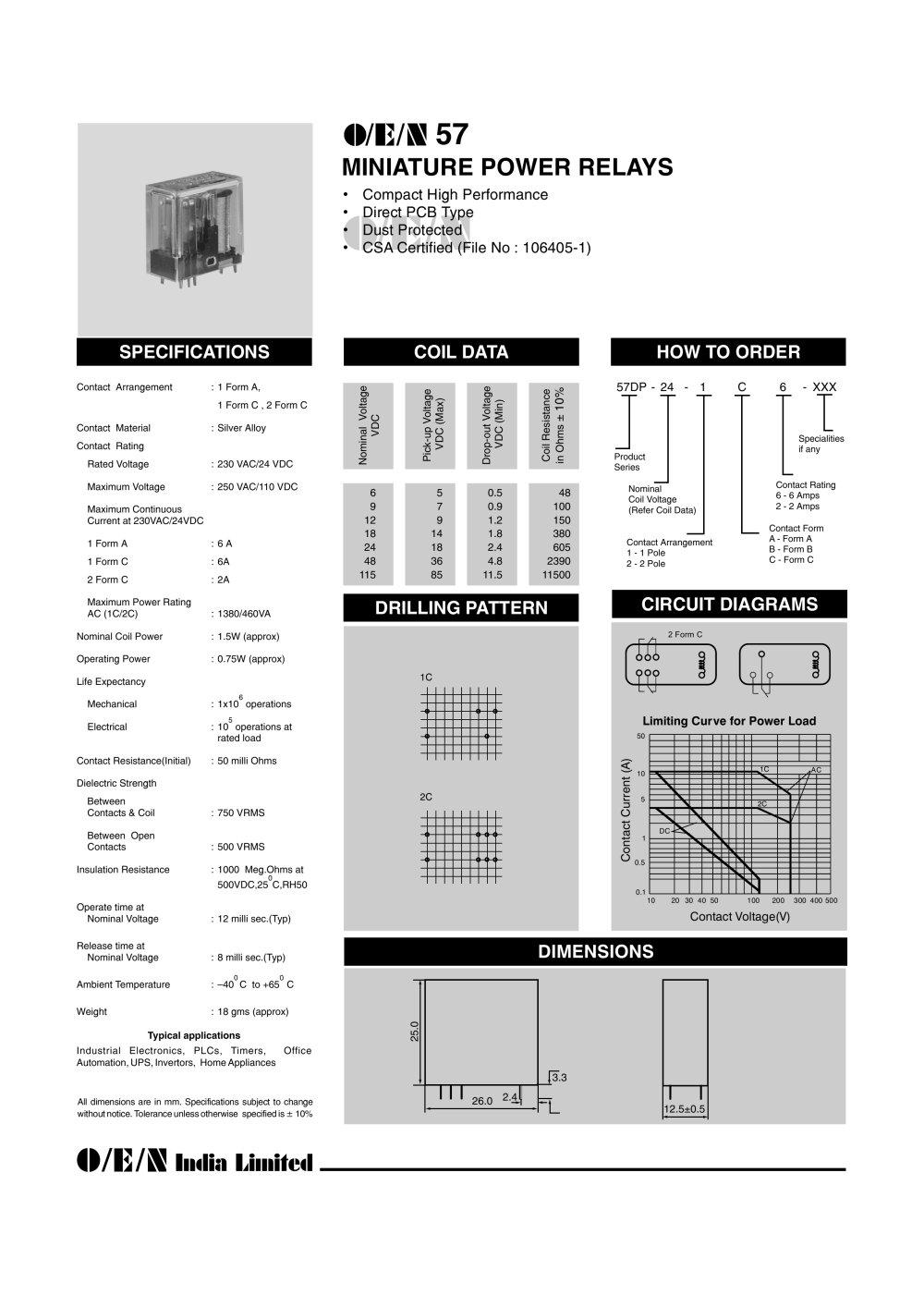 Series 57 - O/E/N India Ltd. - PDF Catalogue | Technical ...