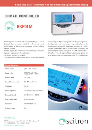 Climate regulator for systems with traditional heating/floor heating