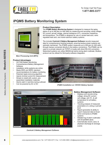 Battery Monitoring System: iPQMS - Eagle Eye Power Solutions - PDF
