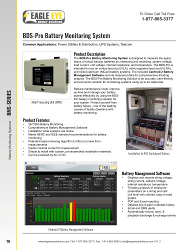 BDS-Pro Battery Monitoring System - Eagle Eye Power Solutions - PDF