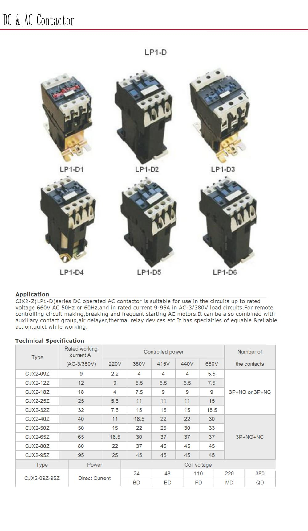 Electronic Motor Contactor Bolevo Lp1 D Series Yueqing Hean Relay Breaking Current 1 Pages