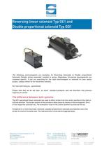 Reversing Linear Solenoid, Double proportional solenoid, Double acting solenoid, Magnetbau-Schramme-E