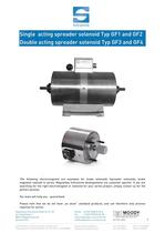 Single acting spreader solenoid, Double acting spreader solenoid, brake solenoid, Magnetbau-Schramme, GF1, GF2, GF3, GF4