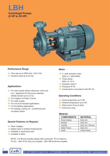 Centifugal Pumps (2.0 to 30.0 HP).