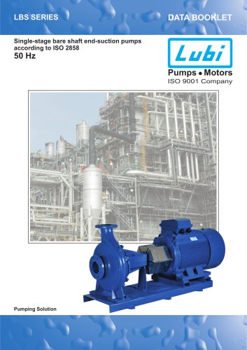 Single-stage bare shaft end-suction pumps 50Hz.