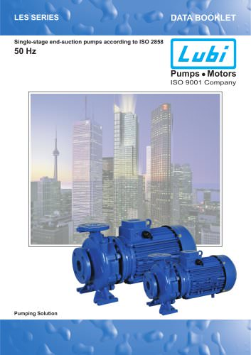 Single-stage end-suction pumps 50Hz.