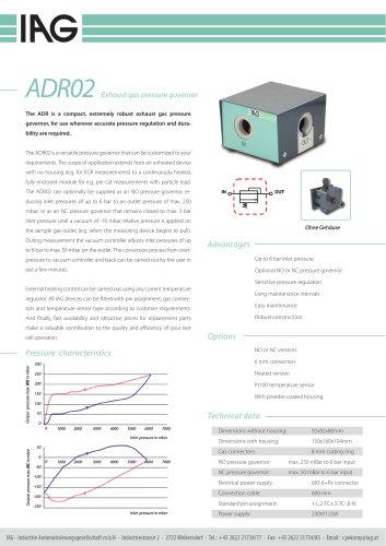 ADR-exhaust gas pressure controller