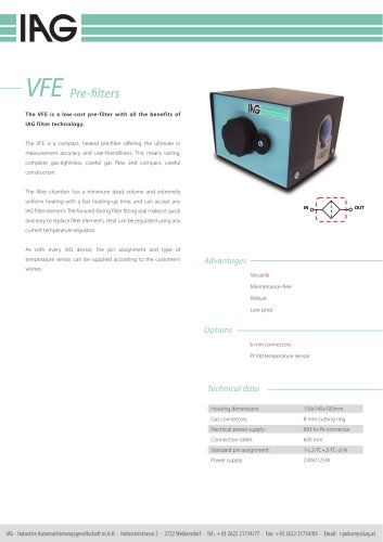 VFE-Prefilter unit