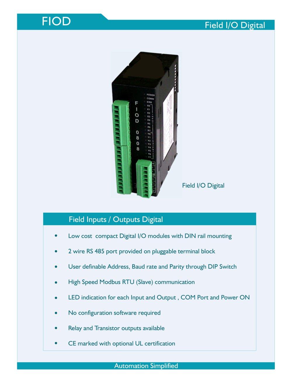 FIOD Field I/O Digital - Renu Electronics Pvt. Ltd. - PDF Catalogue ...