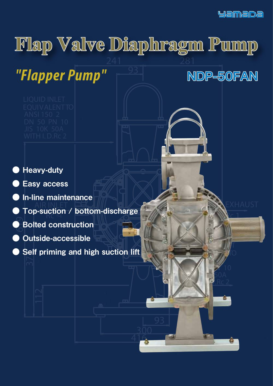Flap valve diaphragm pump yamada corporation pdf catalogue flap valve diaphragm pump 1 4 pages ccuart Gallery