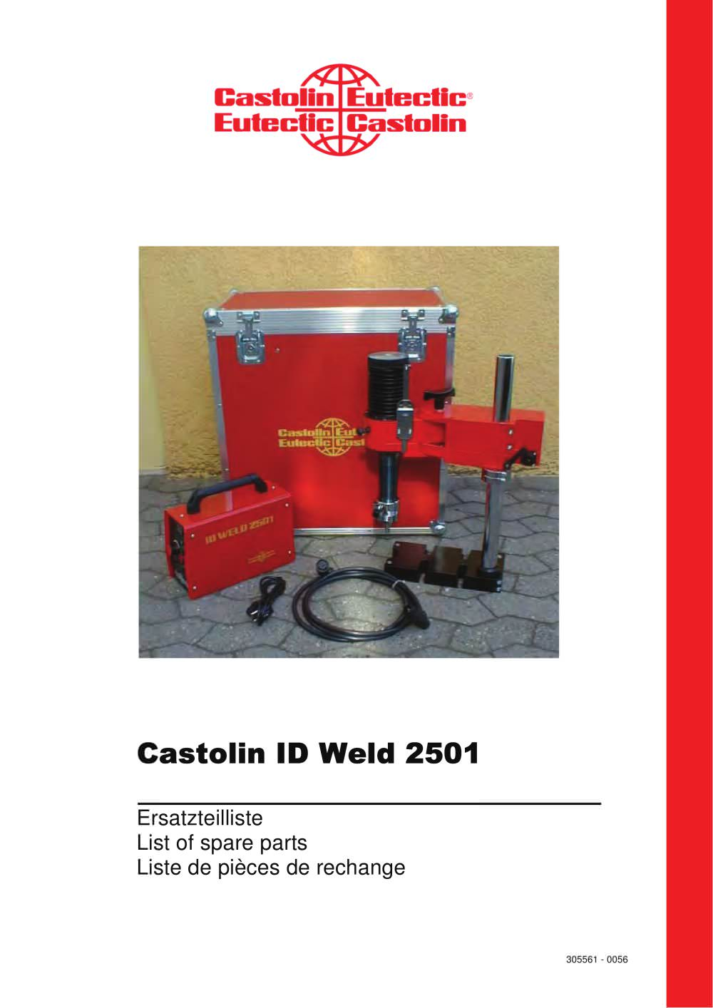 Castolin Welding Castolin id Weld 2501 List of