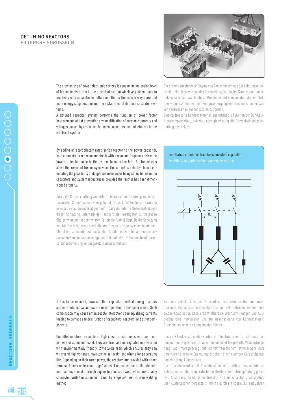 Detuned Reactors FKDr - ELECTRONICON Kondensatoren GmbH - PDF ...