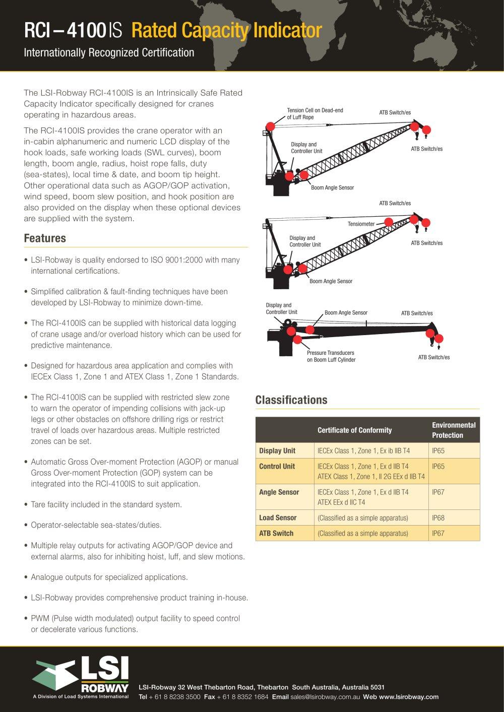 Rci 4100is Lsi Pdf Catalogs Technical Documentation Brochure
