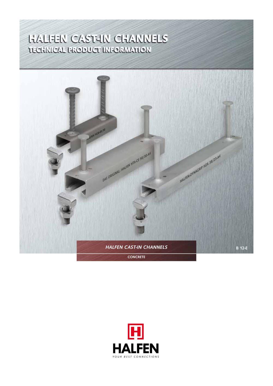 Steel profile anchor channel - Halfen - PDF Catalogue | Technical ...