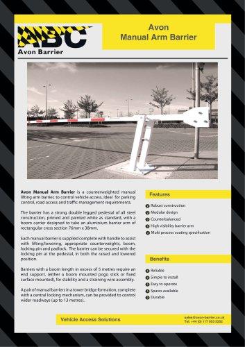 Avon Manual Barrier - Avon Barrier - PDF Catalogs | Technical