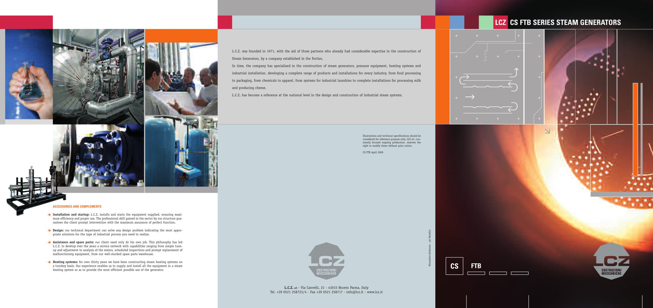 FIRETUBE STEAM BOILER CS LCZ Srl PDF Catalogue
