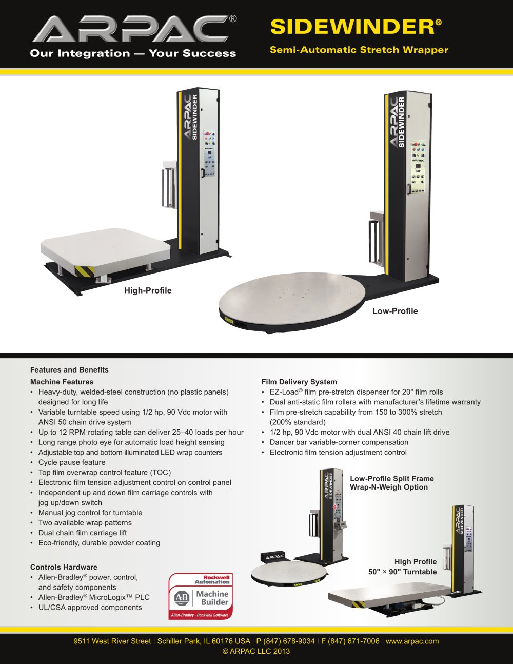 Sidewinder Semi-Automatic Stretch Wrapper - ARPAC Group - PDF ...