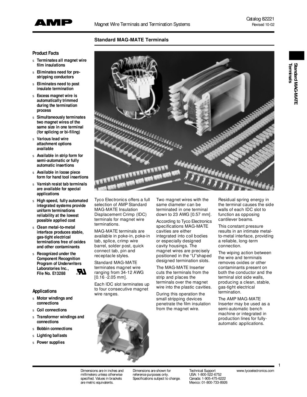 Standard MAG-MATE Terminals - TE Connectivity - Magnet Wire - PDF ...