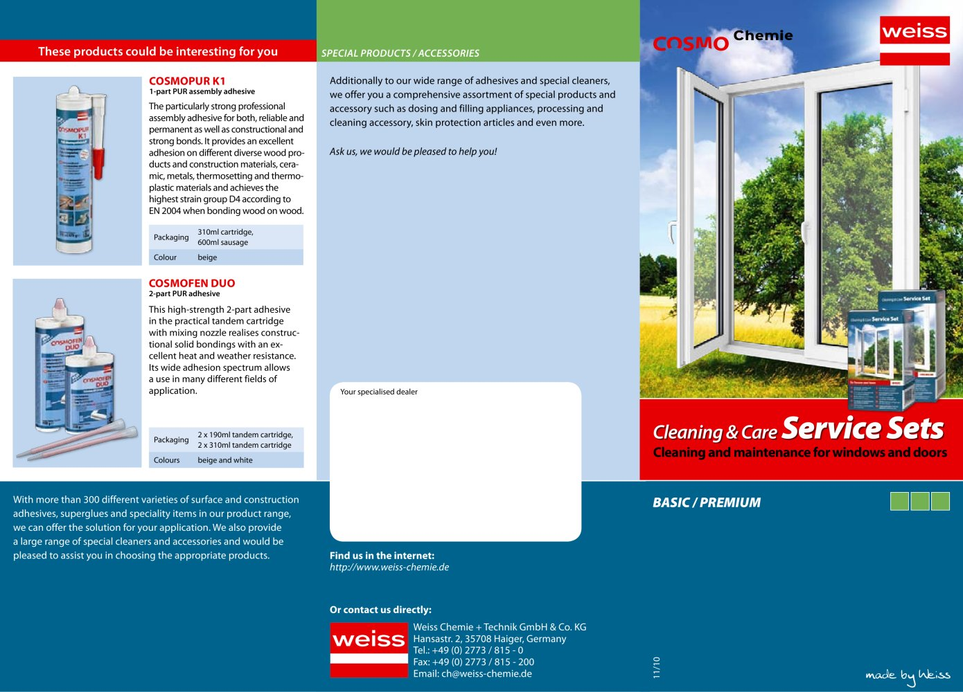 cleaning care service sets weiss chemie technik gmbh co cleaning care service sets 1 2 pages