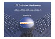 1200mm LED strip production line( proposal)