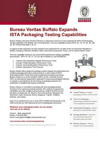 Bureau Veritas Buffalo Expands ISTA Packaging Testing Capabilities