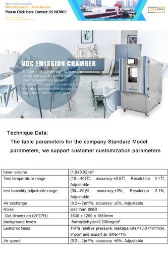 F801-3 Formaldehyde Test Chamber