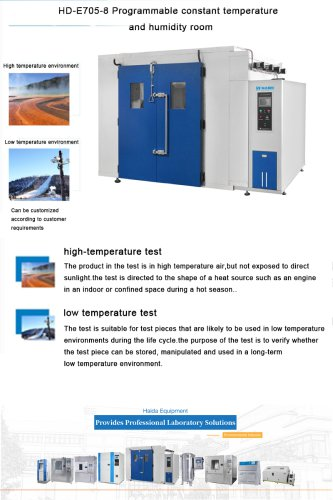 Programmable constant temperature and humidity room