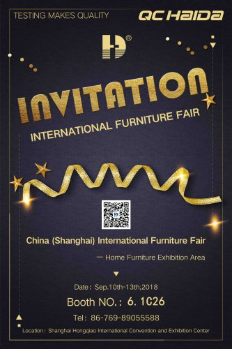 """We'll wait for you at the """"China International Furniture Fair"""""""
