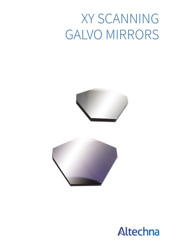 XY scanning galvo mirrors - Altechna - PDF Catalogs | Technical
