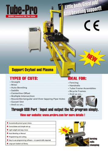 ARCBRO Tube-pro CNC Pipe Cutting Machine - ARCBRO LTD - PDF Catalogs