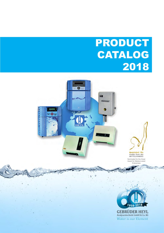 Product Catalog 2018 - Gebrüder Heyl Analysentechnik - PDF Catalogue ...