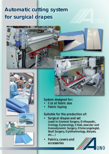 Automatic cutting system for surgical drapes