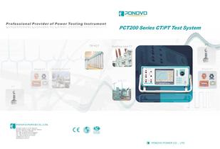 Current relay test set PCT200 Series Brochure