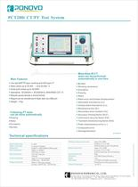 PCT200i Current Transformer Tester Datasheet